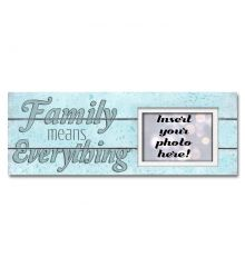 Family Means Everything to Me Sentimental Photo Frame