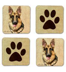 German Shepherd Felt Coasters