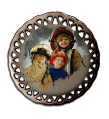 Kids Dreamin the Life Round Lace Ornament