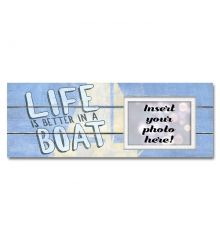 Life is Better in a (Sail) Boat Sentimental Photo Frame