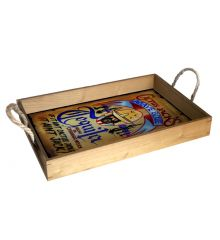 Cactus Jack's Tequila Wanted Poster 12X18 Wood Serving Tray
