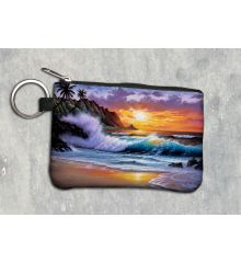 Morning Glory Keychain Wallet
