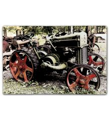 Rusted Tractor Red Wheels
