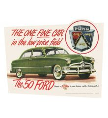 One Fine Car 21x17 Vintage Classic Metal Sign