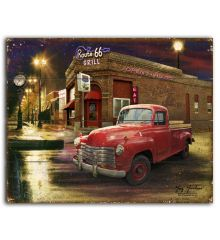 Route 66 Grille 12x15 Planked Wood Signs