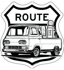 Sin Customs- 1966 Ford Econoline Pickup Rt66 15x15
