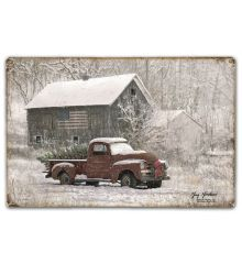 Snow Truck and Barn