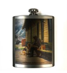 Old Friends 7oz Stainless Steel Flask
