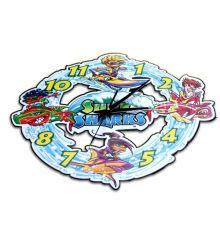 Surf Sharks Laser-cut Clock
