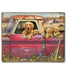 Truck and Goldens